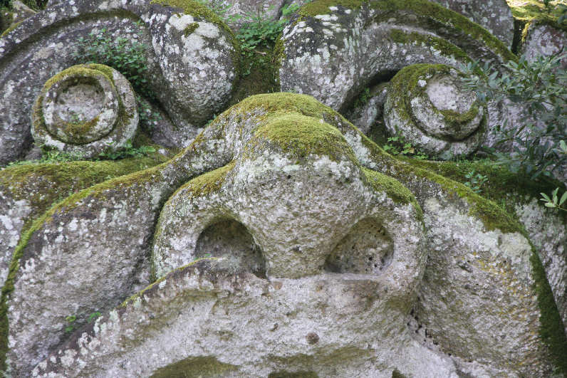 The park of Monsters of Bomarzo - Proteus