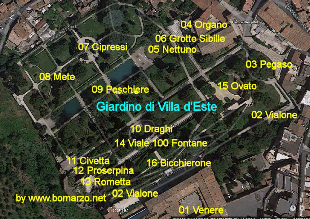 Villa d\'Este a Tivoli. Come arrivare a Tivoli e dove parcheggiare