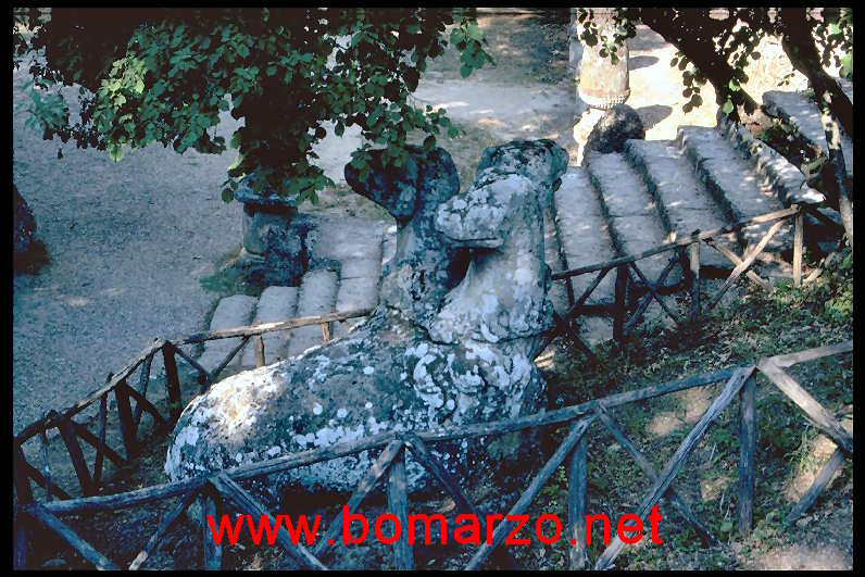 The park of Monsters of Bomarzo - Cerberes