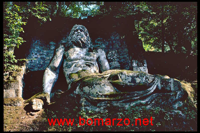 The park of Monsters of Bomarzo - Neptune